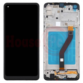 LCD DISPLAY + FRAME FOR SAMSUNG GALAXY A21 A215F BLACK TOUCH SCREEN
