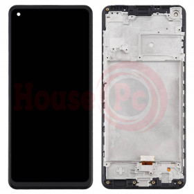 LCD DISPLAY + FRAME FOR SAMSUNG GALAXY A21s A217F BLACK TOUCH SCREEN
