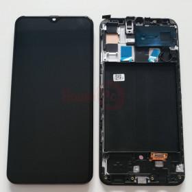 LCD-ANZEIGE + RAHMEN SCHWARZ OLED FÜR SAMSUNG A50 SM-A505F BERÜHRUNGSBILDSCHIRMGLAS