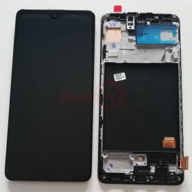 LCD-ANZEIGE + RAHMEN SCHWARZ OLED FÜR SAMSUNG A51 SM-A515F BERÜHRUNGSBILDSCHIRMGLAS