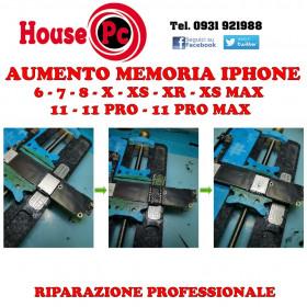 Aumento memoria Iphone upgrade nand 7 - 8 - X - XS - XS MAX - XR - 11 - 11 PRO
