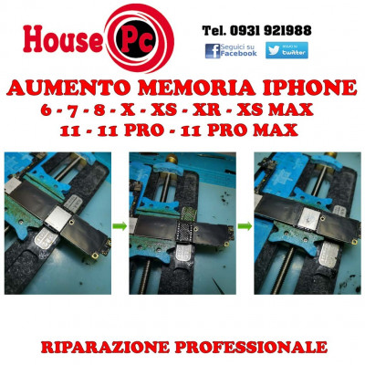 Memory increase Iphone upgrade nand 7 - 8 - X - XS - XS MAX - XR - 11 - 11 PRO