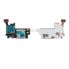 Sim card reader and micro sd slot Samsung Galaxy Note II N7100 flex flat