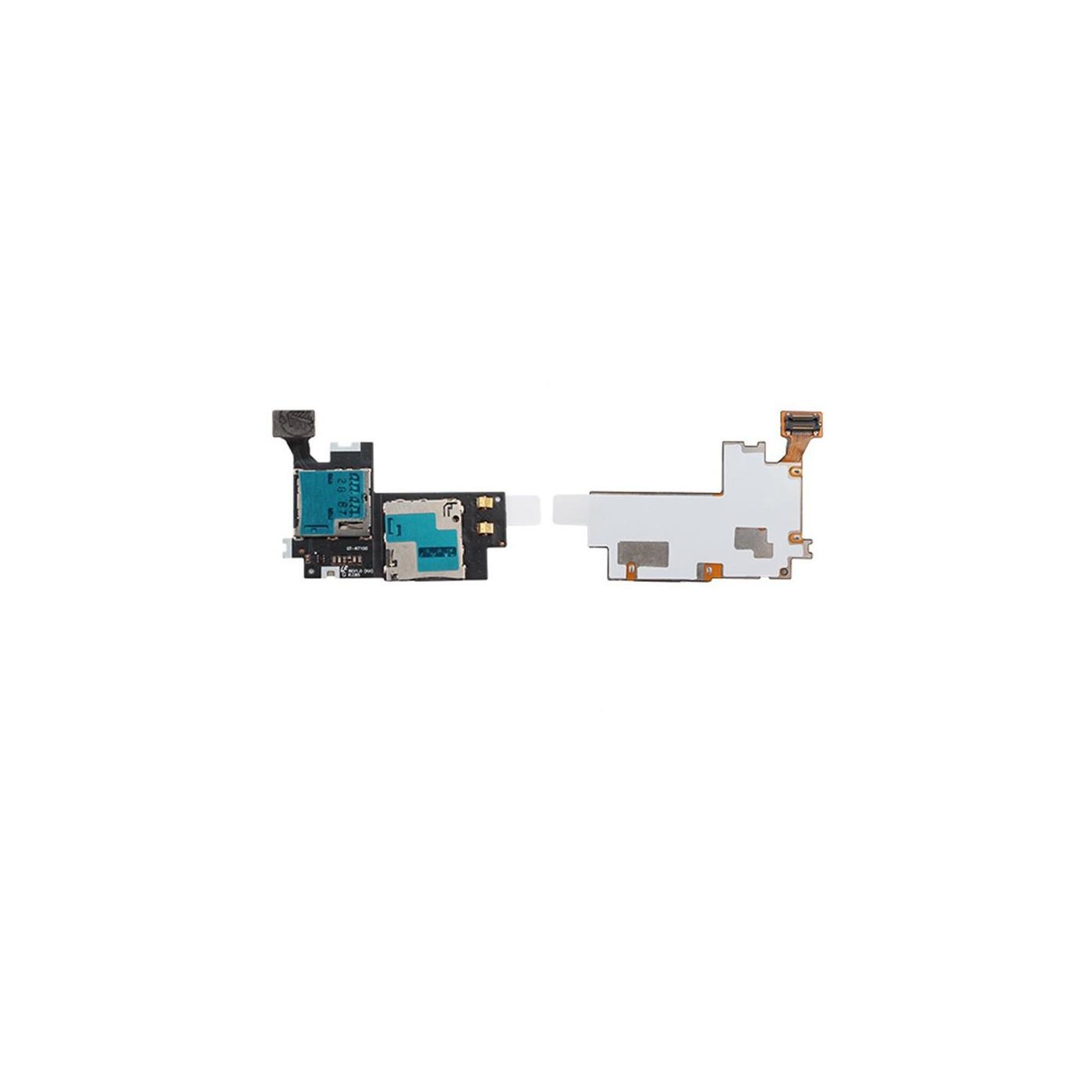SIM-Kartenleser und Micro SD-Steckplatz Samsung Galaxy Note II N7100 Flach Flex