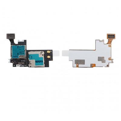 Lettore Sim Card E Micro Sd Slot Per Samsung Galaxy Note Ii N7100 Flex Flat