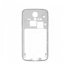 Frame cornice posteriore telaio bianco samsung i9505 s4 bordo silver