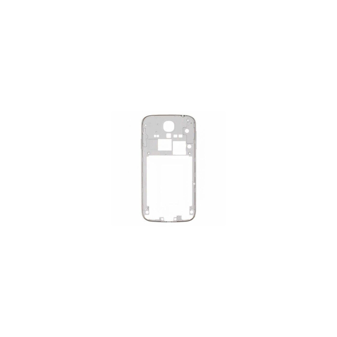 Marco marco trasero marco blanco samsung i9505 s4 borde plateado