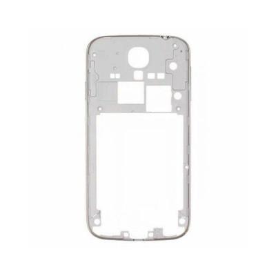 Cadre cadre cadre blanc samsung i9505 s4 bord argent