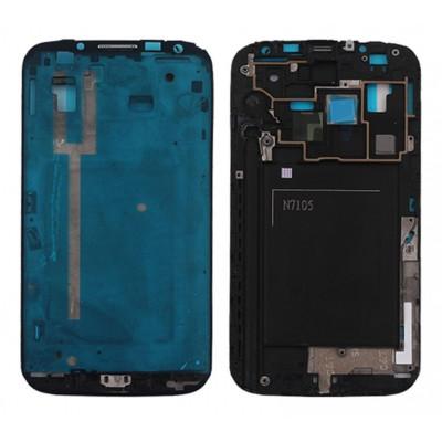 Frame Telaio Scocca Per Samsung Galaxy Note Ii Lte N7105 Silver Cornice Centrale