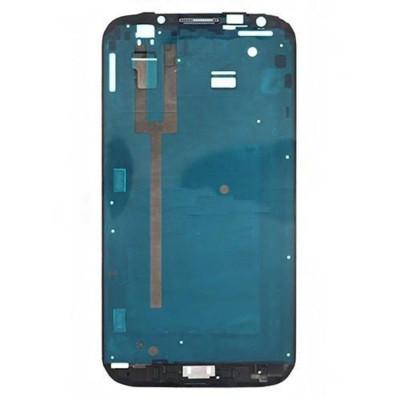 Frame Telaio Scocca Per Samsung Galaxy  Note Ii N7100 Silver Cornice Centrale